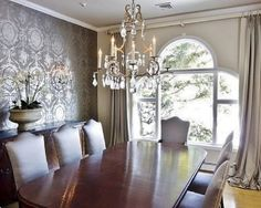 Burgundy Dining Rooms | Burgundy And Cream Formal Dining Room   Awesome  Chandelier! | Ideas For The House | Pinterest | Formal Dining Rooms,  Chandeliers And ...