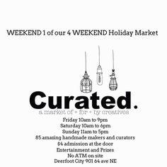 Come say hello and get first dibbs on my new Christmas restorations that won't be made available on etsy until next week (if they last through the market )! I heard Santa will be here. Holiday Market, Event Marketing, Say Hello, Get One, Santa, Events, Rustic, Sayings, Creative