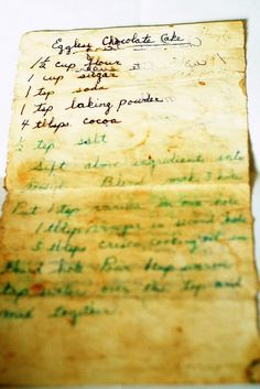 my grandma's recipe for my favorite chocolate cake with chocolate icing (full recipe included)