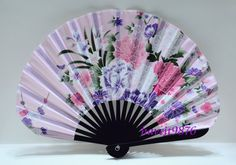 Silk Japanese Hand Fan Folding Fan Pink Kimono Yukata accessory Sensu Wedding on Etsy, $3.45
