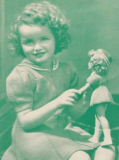 """Vintage Knitting PATTERN 14"""" Doll Clothes Dress Hat Mary Hoyer Princess #VintageHomeArts"""