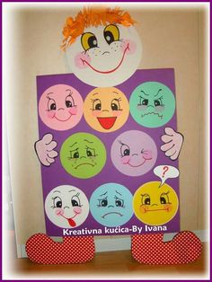Emoji Party Idea (Backdrop, Games, Favors, etc) Class Decoration, School Decorations, Diy And Crafts, Crafts For Kids, Teaching Aids, Feelings And Emotions, Kids Education, Classroom Decor, Preschool Activities