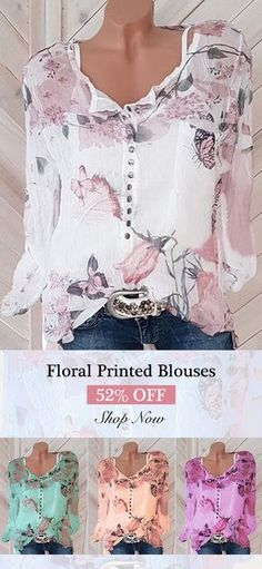 Floral Printed V-neck Long Sleeve Blouses can cover your body well, make you more sexy, Newchic offer cheap plus size fashion tops for women. Pretty Outfits, Beautiful Outfits, Fall Outfits, Casual Outfits, Cute Outfits, Fashion Outfits, Womens Fashion, Fashion Trends, Casual Shoes