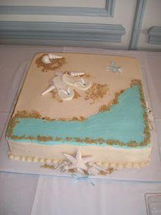 Beach Theme Bridal Shower Cake