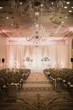 A Champagne-Themed Wedding in Texas, Ballroom Wedding Ceremony