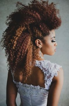 Wild and wonderful . Would you try this natural hairstyle on your wedding day?