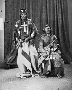 The two great Northern Cheyenne War Chiefs, Little Wolf and Morning Star, 1873 by William Henry Jackson.