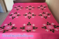 Wow Embroidery Motifs, Ribbon Embroidery, Embroidery Designs, Bed Sheet Painting Design, Fabric Painting, Bed Cover Design, Pillow Design, Bed Sheets Online, Fabric Paint Designs