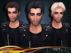 The Sims Resource: Ade - Jake hairstyle • Sims 4 Downloads