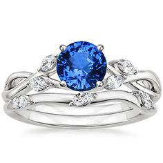 18K White Gold Sapphire Willow Matched Set (1/4 ct. tw.) from Brilliant Earth