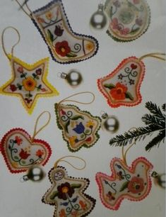 Vintage Vogue Ornaments - The first felt ornaments I made were from this pattern back in the 80's