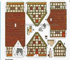 Christmas Villages, Christmas Home, Paper Glue, Paper Crafts, House Template, Putz Houses, Paper Houses, Paper Models, Model Homes