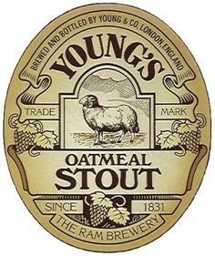 Youngs Oatmeal Stout Beer Label