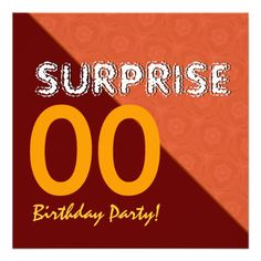 SURPRISE Any Year Birthday Gold Sienna V001 Personalized Invite