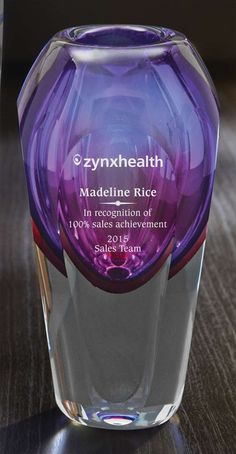 Accent Awards - Purple Art Glass Vase, $120.00 (http://www.accentawards.org/purple-art-glass-vase/)