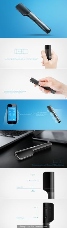 Bluetooth presenter - by intenxiv Inc. Web Design, Shape Design, Layout Design, Presentation Layout, Product Presentation, Industrial Design Sketch, Technology Gadgets, Design Reference, Design Process