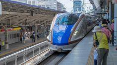 E7 shinkansen on the Hokuriku line to Nagano | Tokyo station