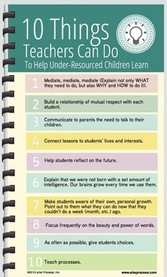 10 Things Teachers Can Do to Help Under-Resourced Children Learn