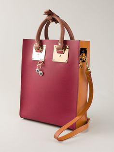 Shop SOPHIE HULME panelled tote bag from Farfetch
