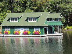 my favourite Boat House on Lake Muskoka ~ I've seen this Boat House on a published Calendar too! www.mariposadesign.ca
