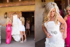 #EnzoaniRealBride Tara & Bryce | Ollis Ranch Wedding - Lovers of Love Wedding Photography | Enzoani Finley wedding dress