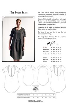 The Dress Shirt Sewing Pattern   Merchant & Mills