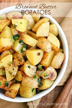 Browned Butter Roasted Potatoes Recipe | Nutty browned butter and a hint of brown sugar makes these roasted potatoes extra special!