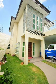 Myhaybol - photo gallery of real homes in the Philippines showcasing Filipino architecture and interior design. Custom Home Designs, Custom Homes, Philippines House Design, Filipino Architecture, Small House Interior Design, Affordable Housing, Home Builders, Pergola, Construction