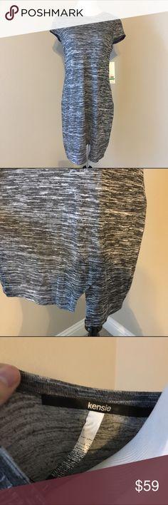 💥30% off 3+ item bundles💥 T-shirt dress with envelope feature on the bottom hem. Grey melange color. NWT! Kensie Dresses