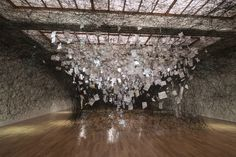 Art Installation: Letters of the Thanks, (2013) ~ Chiharu Shiota