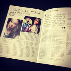 Grav3yardgirl aka Bunny Meyer!!!  I love her so much and her dream of being in a magazine came true! <3