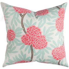 Mint Fleur Chinoise Cushion - hardtofind.