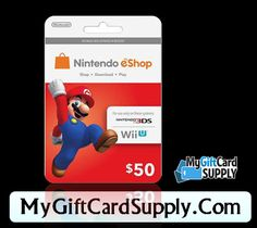 Mygiftcardsupply providing you Nintendo eShop gift card just $10. You can play games on Nintendo 3DS and Wii U. It's a popular portable gaming console that you can play with 3D effect.