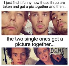 and they have beard while harry and niall don't haha