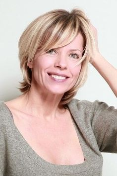 short hairstyles over 50 - layered haircut for women over 50 Short Hairstyles Over 50, Mom Hairstyles, Layered Hairstyles With Bangs, Trendy Hairstyles, Short Haircuts, Medium Hair Styles, Short Hair Styles, Layered Haircuts For Women, Popular Haircuts