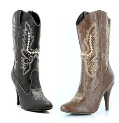 Sexy Cowgirl Cowboy High Heel Ankle Boots Sizes 6-12