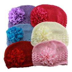 >> Click to Buy << new fashion cute baby & kids Handmade peony Flowers Crochet Knitting Cap 's boy's beanie hat children accessories #Affiliate