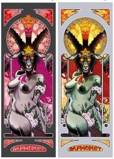 "Florian Bertmer ""Baphomet"" Art Prints at Deathwish. I think I like the pink/red variant."