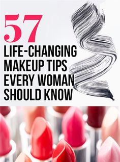 57 Life-Changing Makeup Tips Every Woman Should Know – hautpflege gesicht All Things Beauty, Beauty Make Up, Diy Beauty, Beauty Hacks, Beauty 101, Beauty Stuff, Beauty Ideas, Foundation Routine, Tips And Tricks