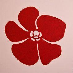 Exclusieve wanddecoratie - 17. Figurative Minimal | Red flower - O.208-8
