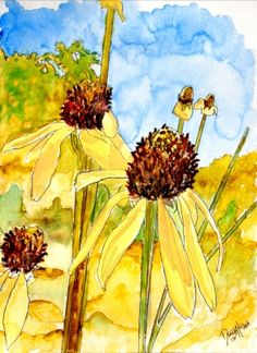 i have so many photographs of flowers that I need to paint in water color. This looks like a style i could handle