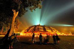 Ancient Borobudur, Indonesia Buddhist temples or stupas of ancient Borobudur.