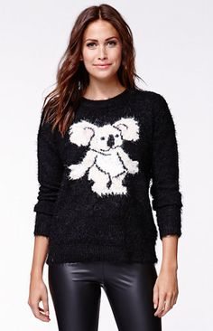 MinkPink Drop Bear Knit Jumper Sweater #pacsun