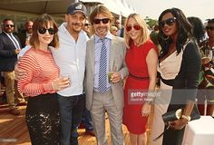 Charlotte Riley, Tom Hardy, Jay Kay, Nicole Appleton and Shaznay Lewis attend day one of the Audi Polo Challenge at Coworth Park on May 28, 2016 in London, England.