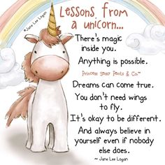 Lessons from a unicorn... ~ Princess Sassy Pants & Co