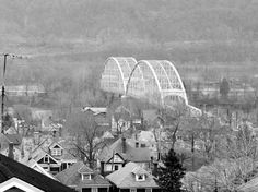Today in Allegheny County History - On Oct. 5, 1927, old Coraopolis Bridge opened to traffic, connecting Neville Is. & Coraopolis. It was originally built in 1892 as 6th Street Bridge in Downtown Pittsburgh by Union Bridge Co. It was floated downstream in 1927 to make way for construction of the current 6th Street Bridge, now called the Roberto Clemente Bridge. By the late 1980s, the old Coraopolis bridge could no longer support traffic volumes & was replaced by current bridge.