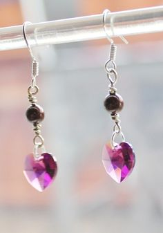 Ørepynt i swarovski og sølv Pearl Earrings, Drop Earrings, Beautiful Earrings, Swarovski, Pearls, Jewelry, Jewellery Making, Jewerly, Jewelery