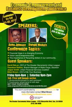 Economic Empowerment and Business Development Conference #Sacramento