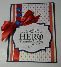 Learn how to make this inspirational Memorial Day card with Bowdabra bow maker tool.DIY easy patriotic crafts for Memorial Day in quick steps. Patriotic Crafts, July Crafts, Card Making Tutorials, Making Ideas, Memorial Day, Military Cards, Military Quotes, Holiday Cards, Christmas Cards
