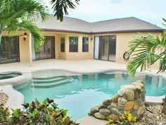 CALL, EMAIL OR TEXT LISTING BROKER PITTNER REAL ESTATE 321-961-2424, PITTNERREALESTATE@YAHOO.COM. NEWER 4 bedroom 3 bath 3+ car garage home captures the TROPICAL Lifestyle! Home features large open split floor plan, gourmet kitchen w/solid wood cabinets, granite counters, stainless appliances, recessed lighting, large island and breakfast bar. Spacious master suite w/ his and hers walk-in closets, double vanities, separate step-in shower & tub.